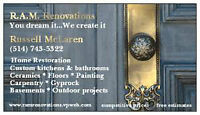 R.A.M. RENOVATIONS - GENERAL CONTRACTOR FOR ALL YOUR RENO NEEDS