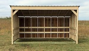 Horse Shelters / Calf Shelters / Livestock Shelters / Wood store