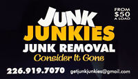 1844-AJUNKIE Junk Junkies Junk Removal and Delivery Services