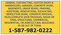 GENERAL CONTRACTING, FRAMING, RENOVATIONS, ADDITIONS, CONCRETE