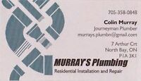Murray's Plumbing - Residential service and installation