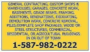 WE SELL SHOP, HOUSE, GARAGE, AND CABIN PACKAGES 1-587-982-0222