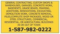 CARPENTRY, GENERAL CONTRACTING, SHOPS, WAREHOUSES, GARAGES,