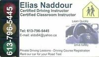 Driving instructor for road test in Ottawa