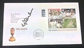 Michael Vaughan Signed England 2005 The Ashes Winners Cricket Postal Cover