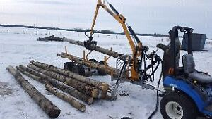 Log trailer log splitter firewood processors
