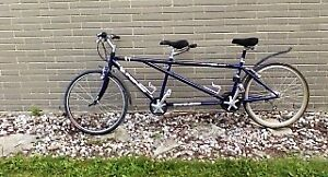 twin or  tandem bicycle , aluminum,great condition.hardly used