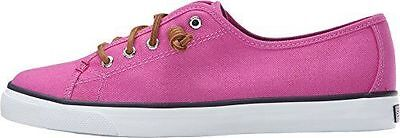 Neu in Box Sperry Top-sider Damen Seacoast Leinen Turnschuh Hell Pink Sz 7.5 ()