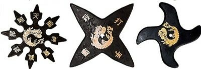 Ninja Martial Arts Rubber Foam Throwing Stars Practice Shuriken Star - Set of 3