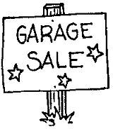 Summer Cleaning Garage Sale ranging from .50 cents and above