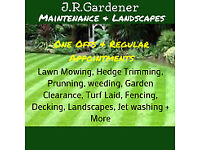 JR Gardener - Gardening, Lawn Mowing, Weeding, Hedge Trimming, Landscaping, Fencing, Decking & More