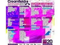 Selling my 4 day bronze camping creamfields ticket because I don't have the money to go
