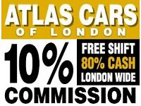 Minicab/Pco drivers required-10% Commission-Free Shift -80% Cash work -London Wide - Est since 1965