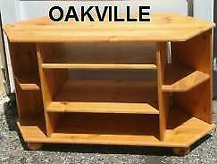 IKEA TV TABLE #2 Oakville  41 x 17 x 24h  Solid Wood Pine Light colour Old style television deep