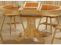 Wanted tile top table and chairs.must be mint cond.