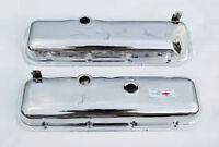 Used set of BBC chromed stock height valve covers.