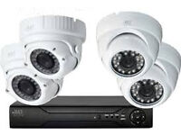 ahd cctv camera full system 1080p dvr 4 channel +500gb + x4 2mp camera supplied and fitted