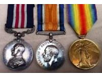 WAR MEDALS and military items wanted by collector