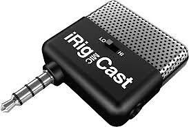 Irig micast microphone for iPhone, iPod, iPad