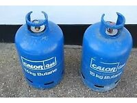 £ 15 -EACH - EMPTY Calor Gas 15kg Butane gas bottle/cylinder+REGULATOR ; BBQ,camping,caravan