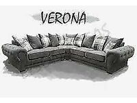 🔵💖🔴EXCELLENT QUALITY🔵💖🔴 verona 3 and 2 seater sofa set in grey color-cash on delivery