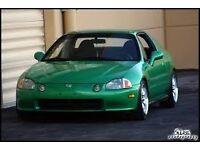 HONDA CRX DEL SOL ��999 samba green colour 1.6 esi 125bhp vtec