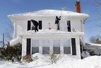 ROOF SNOW CLEARING-ACCURATE WINDOW CLEANERS- 519-719-1800