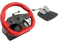 Speed-Link SL-6694-RD - Speedlink Carbon GT Racing Wheel with Pedals - PC/PS3