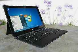 Mint as new used twice Microsoft surface rt and black official keyboard, spare keyboard and case