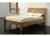 Beautiful oak double bed frame brand new matress can DELIVER