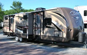 33 foot cougar camper on seasonal site