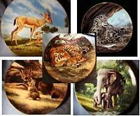 """Last of Their Kind"" Collector Plates (5) Watch