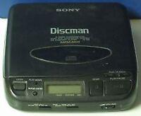 2 Sony Discman Portable CD Walkman  Players D-137CR  &  D-33