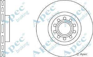 Apec Braking OE Quality Replacement Single Brake Disc Disk - DSK2017