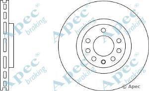 Apec Braking OE Quality Replacement Single Brake Disc Disk - DSK2596