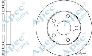 Apec Braking OE Quality Replacement Single Brake Disc Disk - DSK661
