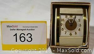 WESTCLOX near mint travel alarm clock with box
