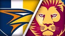 FREE West Coast Eagles V Brisbane Lions ticket x1 Sandgate Brisbane North East Preview