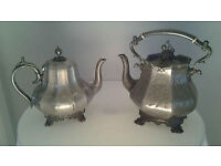 Antique Teapot And Kettle.