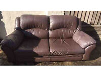 Leather sofas - 3 seater and 2 seater