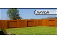 Fence shed painting and repair replacement service wood