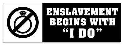 Marriage Enslavement Staying Single Decal Mgtow Sticker Mens Rights Mghow