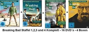 15 DVDs * BREAKING BAD - SEASON / STAFFEL 1 - 4 IM SET# NEU OVP <
