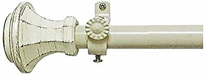 "Achim Home Furnishings Buono II Rod with Carson Finial, 48"" Extends to 86"" New"