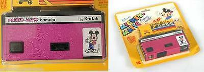 как выглядит KODAK MICKEY-MATIC 110 CAMERA-PINK WITH FILM NEW IN PACKAGE фото