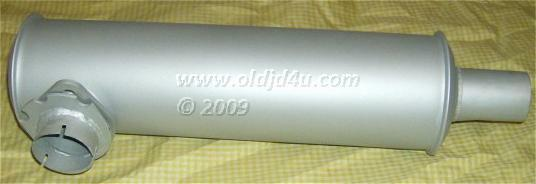 Photo John Deere 420 430 Orchard Muffler - AM3224T * USA Made * High Heat Silver Paint