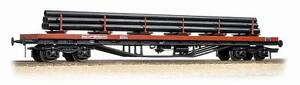 Bachman  38-158  BDA BOGIE BOLSTER WAGON BR BAUXITE WITH STEEL PIPE    00  Gauge