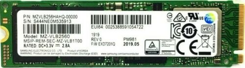 Samsung PM981a 256 GB Internal SSD (MZVLB256HBHQ) - Lots of 5