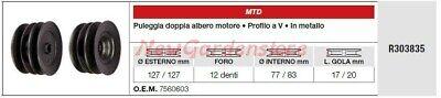 Polea Doble Árbol Motor MTD Tractor Podadora Cortacésped R303835