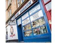 Boyd's Aquarium: Rare opportunity to own your own aquatic and pet store in Glasgow City Centre